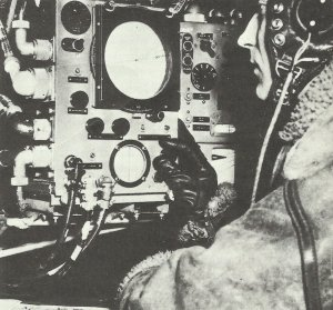 adio operator aboard an RAF bomber on the 'Gee' navigation device