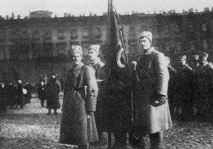 Soldiers of the new Red Army