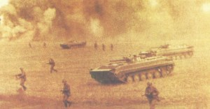 Red Army maneuvers with BMP-1 i