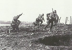 Assault of German infantry
