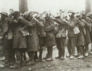British troops blinded by gas
