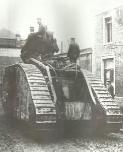 captured British tank Mark IV