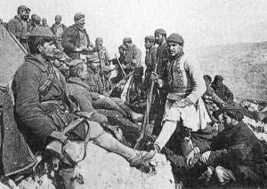 Greek Evzones in May 1918