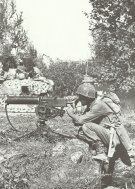 Browning M1917A1 machine gun in Italy 1944