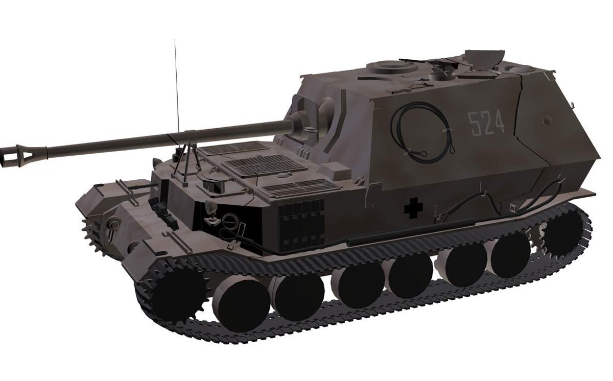 How did Ferdinand Porsche build the tank and why did he get a self-propelled gun