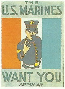 Recruitment poster for the US Navy Corps.