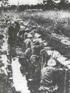 Italian infantry in the Piave line