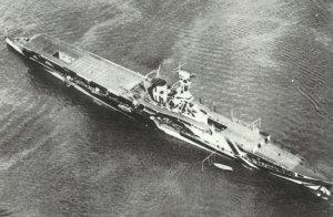 HMS Furious' in 1918
