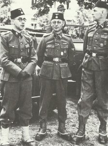 Officers of the SS military police of the Croatian Handschar Division