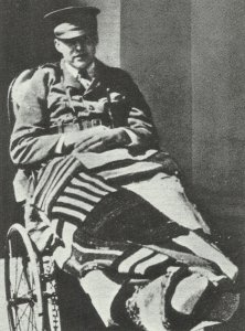 Ernest Hemingway in the hospital in Milan.