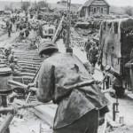 Totenkopf Division complete a pontoon bridge