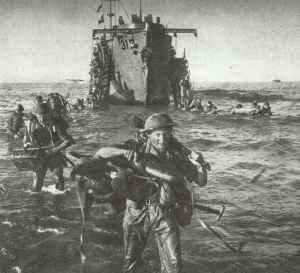 British Highland infantry disembarks
