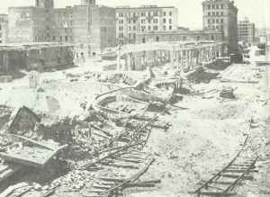 Railway station Ostiense after the first Allied air raid