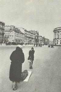Nevsky Prospekt during the siege of Leningrad