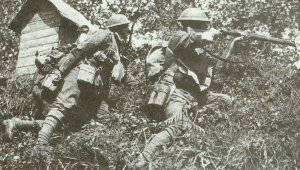 British soldiers in action
