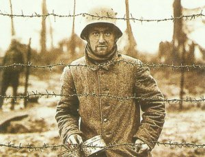 German PoW in an Allied camp