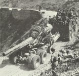 Heavy US artillery Italy