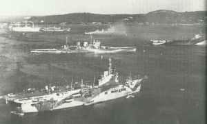 British fleet as it arrived at Trincomalee on Ceylon