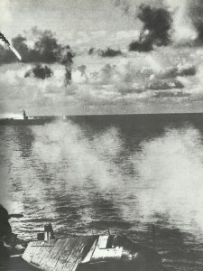 Shooting down of a Japanese plane
