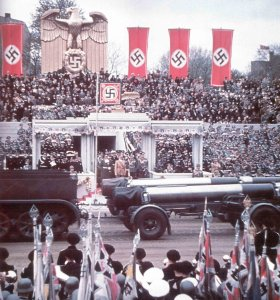 Military parade on Hitler's 50th birthday