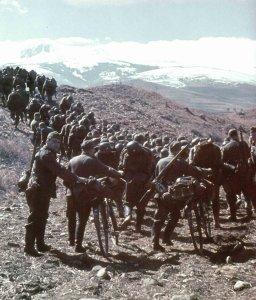 German Infantry in Northern Greece.