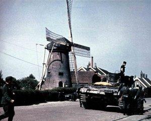 German tank in Rijsoord in Holland