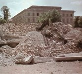 headquarters of the Nazi-Party in Munich heap of rubble