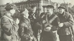 Sailors and workers' militias Leningrad