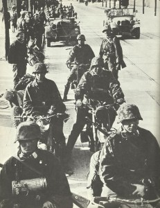 Motorcyclists of the SS-Division Reich