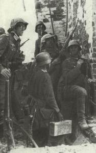 trapped German soldiers