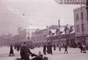 market place in Dammen (near Oslo) at the beginning of 1944