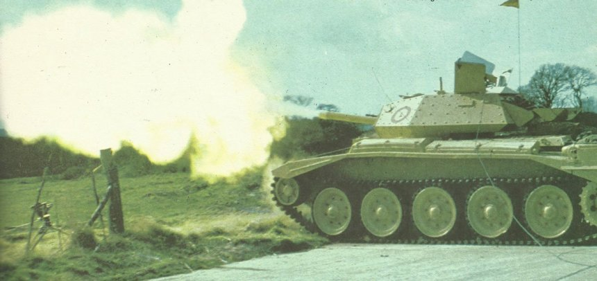 Crusader tank with 6-pounder