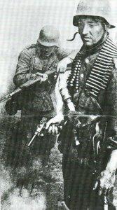 Luger pistol in combat in World War II
