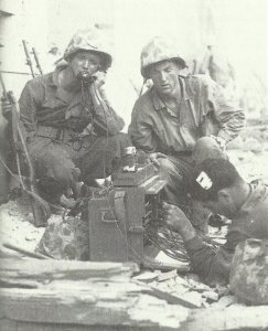 US Marines using an advanced field telephone