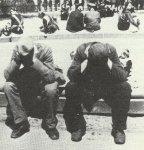 unemployed, demobilized men in Berlin