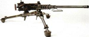 Browning 0.5inch heavy machine gun on tripod
