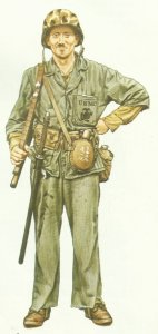 Private of the US Marine Corps 1943