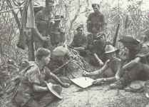 A section of British soldiers of Slim's 14th Army in Burma