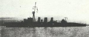 British light Cruiser 'Undaunted'