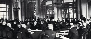 Clemenceau presents Versailles peace treaty