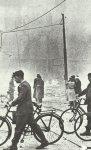 At dawn after an air raid