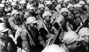 Chinese Nationalist unit in full battle gear