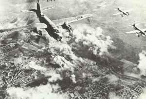 B-26 Marauders attacking railway yards.