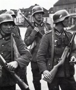 German infantry at the beginning of the war.