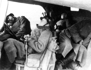 Exhausted German soldiers arrived in Serbia
