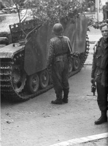 assault gun of the Hohenstaufen Division in Arnhem
