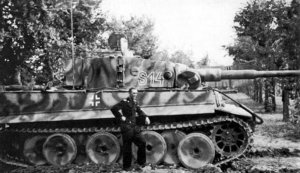 Tiger tanks of the SS-Leibstandarte in northern Italy