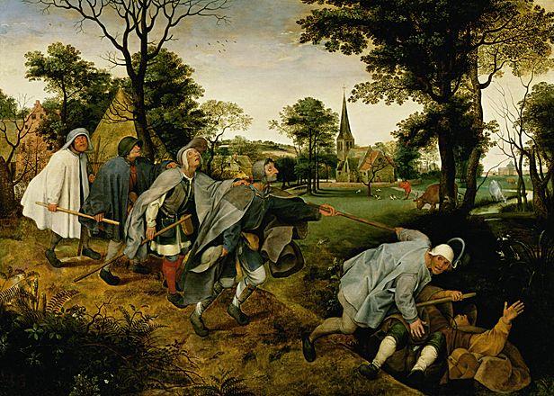 Détrempe de Pieter Bruegel l'Ancien de 1568 conservée au Musée Capodimonte de Naples.