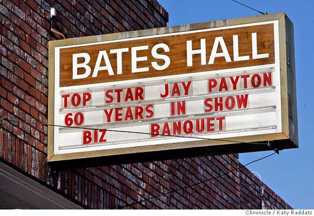 PAYTON24_068_RAD.jpg SHOWN: Jay Payton, 81, Godfather of Bay Area R&B, celebrates 60 years in showbiz at Bates Hall in Oakland, CA. (Katy Raddatz/The Chronicle) **Jay Payton Mandatory credit for the photographer and the San Francisco Chronicle. No sales; mags out. Photo: Katy Raddatz