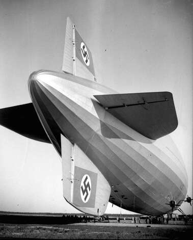 Swastikas on the Hindenburg